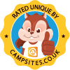 rated by campsites.co.uk